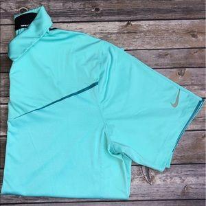 Aqua Nike Golf polo short sleeve